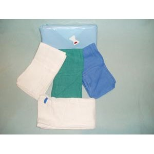 17x25In OR Towel Green Prewashed XRay Detectable Sterile 2/Pouch, 2/PCH 40PCHCS  80CS
