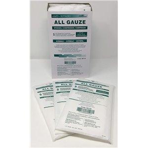 All Cotton Gauze Sponge  Sterile   3x3In  8Ply  2s, CS 2400