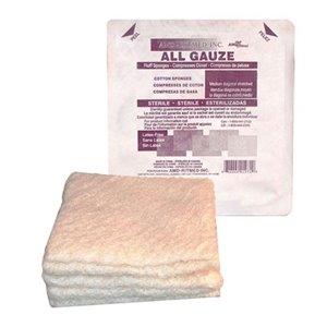 All Cotton Gauze Fluff Sponge  Sterile  6x6¾In  12Ply, 5/PLASTICPCH 120PCH/ CS600