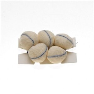Tonsil Sponges 7/8In Small/Medium XRay Detectable Strung on Count Card Sterile, 5/PCH 20PCHCS 100CS