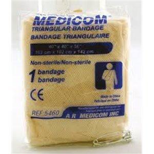 SafeBasics Triangular Bandage 40x40x56In, N1/PCH 12PCH/BG 20BGCS
