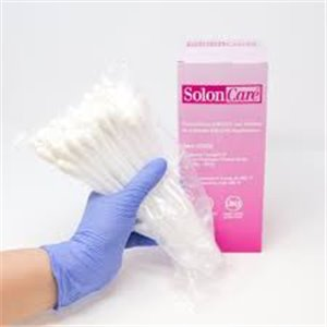 Solon 6In Cotton Tip Applicator Plastic Stem Sterile, 2/PCH 100PCH/BX 10BXCS 2000